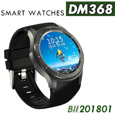 DM368 Smart Watch AMOLED Round Screen Sapphire mirror outlook Android 5.1 WIFI GPS 3G Call Heart Rate Monitoring DHL