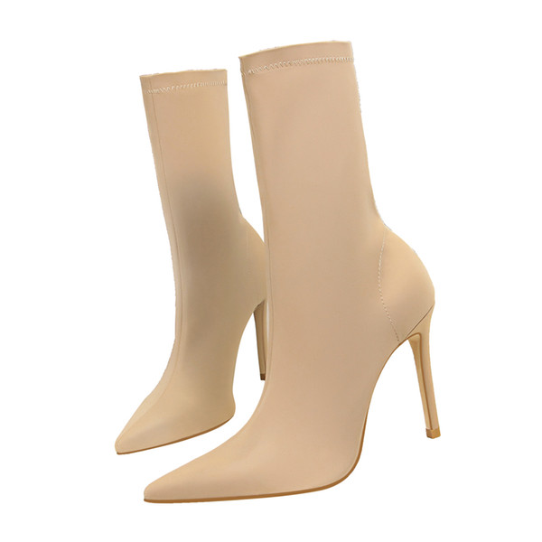 Sexy Lady Half Boot Pumps Dress Shoes High Heels Festival Party Wedding Shoes Heels Formal Pumps Women Heels Stiletto Ankle Boots GWS585