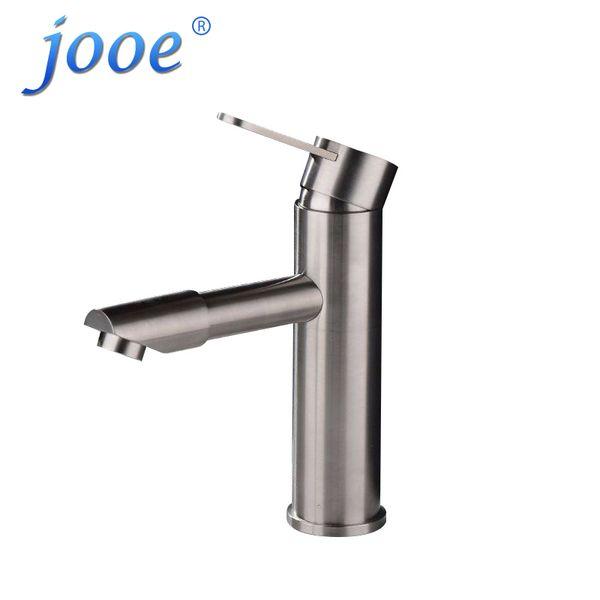 jooe Badezimmer Basin Wasserhahn Kalt Warmwasser Mischbatterie Edelstahl 360 Rotation Messing Einzigen Halter Einlochmontage waschbecken wasserhähne W065