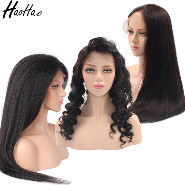 Full Lace wig lace frotal wig 360 lace wig virgin brazilian remy hair For Black Women With Baby Hair