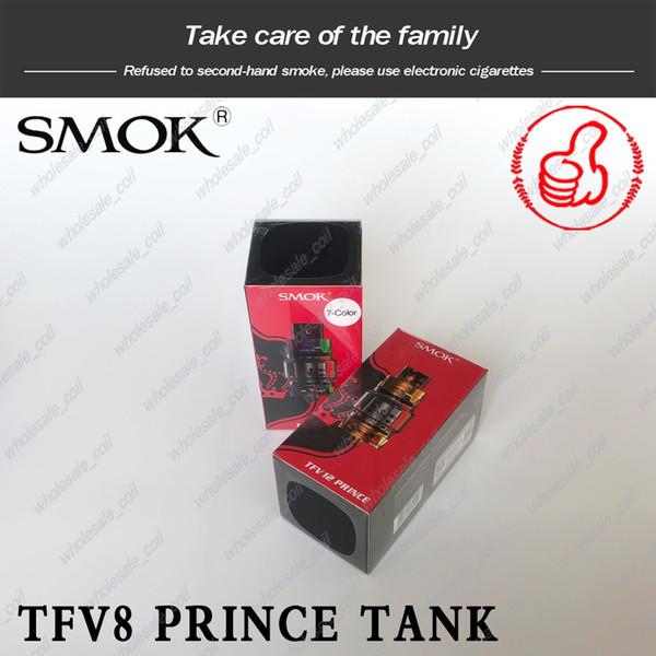100% Orijinal SMOK TFV12 Prens Bulut Beast Tankı 8 ml Büyük Kapasiteli Üst Dolum Atomizörler Ampul Cam Tüp Ile Hakiki Smoktech