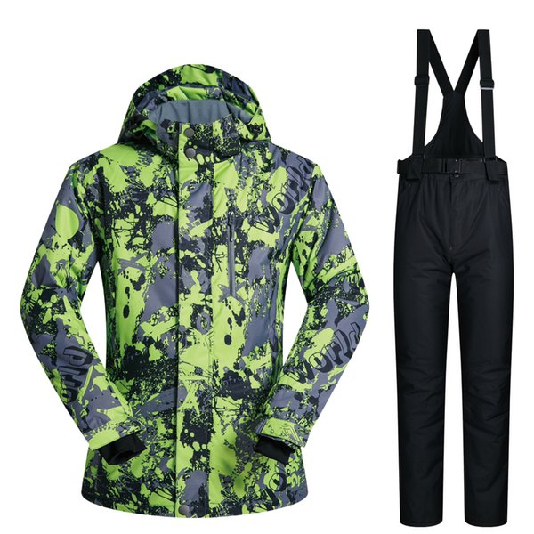 -30 Celsius 2018 winter snowboard ski jacket men clothes waterproof windbreaker snow skiing suit pants set