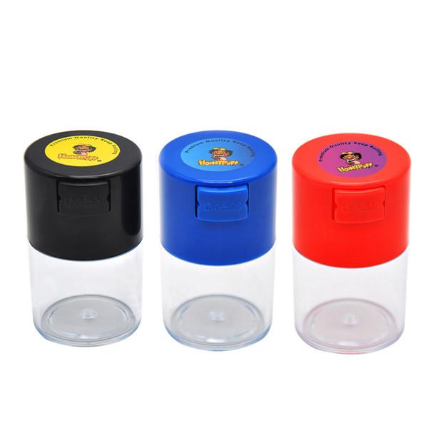Conteneur de stockage 60ML en acrylique scellé sous vide à usages multiples scellé sous vide pour caisson de stockage de café, de tabac et d'herbes sèches
