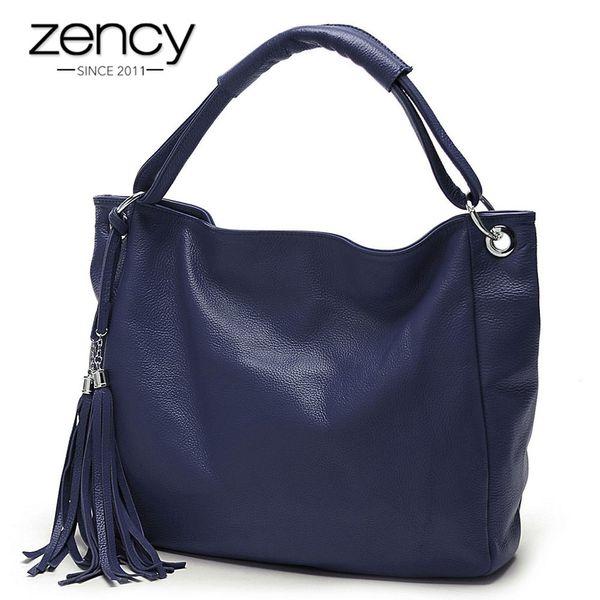 Fashion Colors 100% Italian Soft Genuine Leather Tassel Women's Handbag Ladies Shoulder Bags Messenger Satchel Crossbody