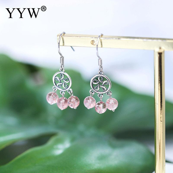 Boucles d'oreilles à la mode en gros rétro Thaïlande boucles d'oreilles en argent Sterling déclaration 2018 Nouveau pendantes pour les femmes bijoux