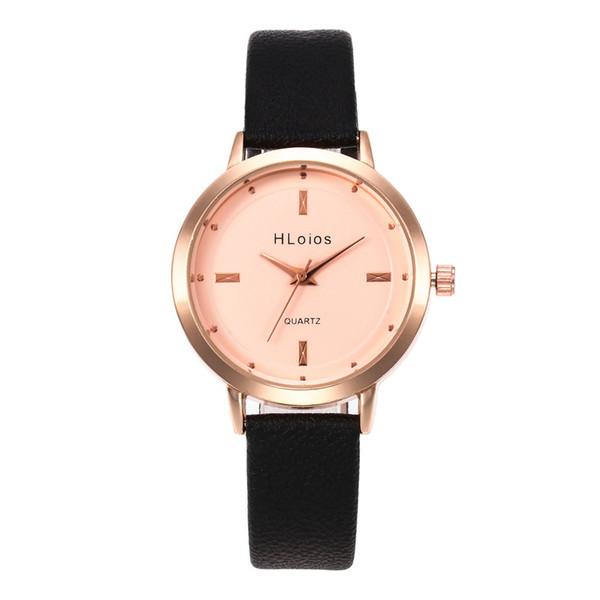 Nova marca mulheres pulseira de relógio de moda rosa de ouro flores de couro simples mulheres se vestem relógios de negócios de luxo relógio de presente relógio