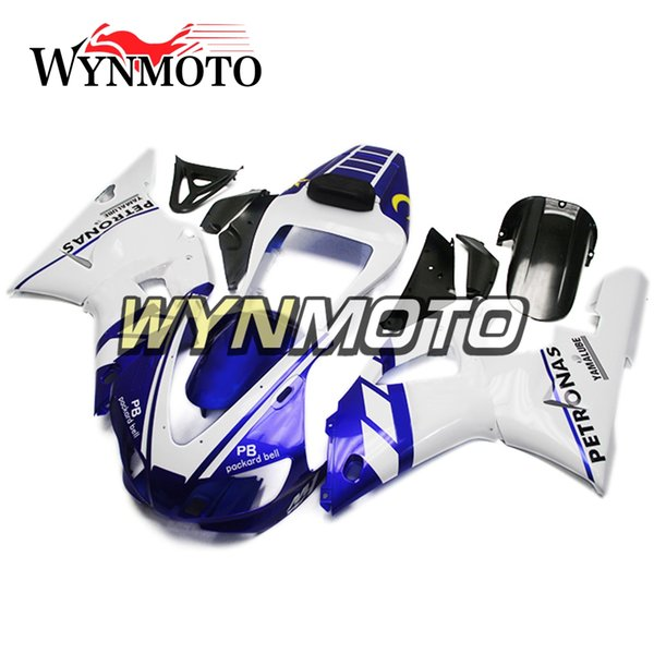 Full Body Frames For YZF1000 R1 1998-1999 98 99 Injection ABS Plastics Panels White Blue Black Cowlings Motorbike Yamaha R1 Frames Covers