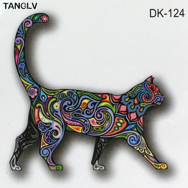 Tatoo De Anjos Beleza Desenho Colorido Imagem Do Gato Design Tatoo