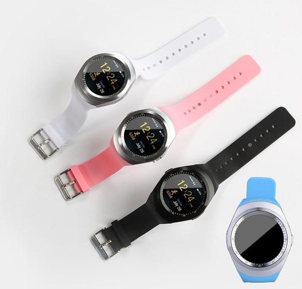 Y1 smart watchs para android smartwatch samsung celular relógio bluetooth suporte sim tf cartão para apple iphone com pacote de varejo