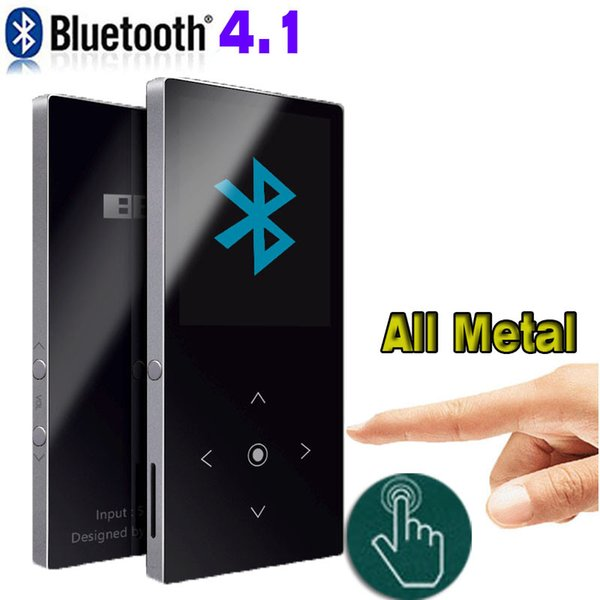 Metal Mp3 player bluetooth with Touch Screen Build in Speaker benjie k8 HIFI Music player with FM Radio sound recording Ebook