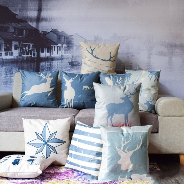 Outstanding New Multicolor 13 Styles Pillowcase Cotton Linen Nordic Deer Series Pillow Case Sofa Cushion Cover Car Lumbar Pillow Cover Outdoor Chair Pads Evergreenethics Interior Chair Design Evergreenethicsorg