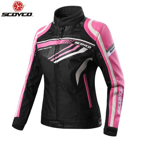 Genuine SCOYCO Motorcycle Jackets Women Jerseys Moto Female Clothes CE Protector Waterproof Racing Protective Protection JK37W