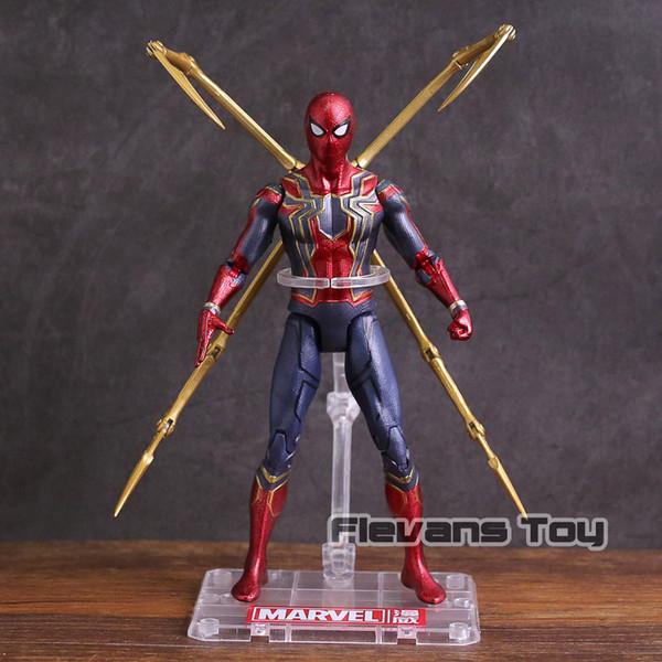 Avengers Infinity War Eisenspinne Spiderman PVC Action Figure Sammlermodell Spielzeug