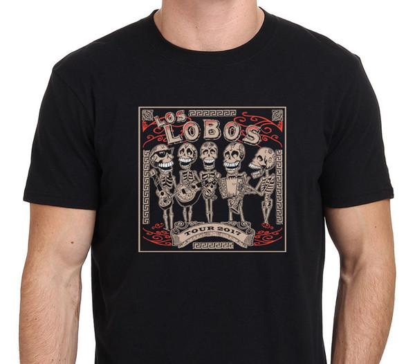 Entwerfen Sie Ihr eigenes T-Shirt Rundhalsausschnitt Kurzarm Druckmaschine Los Lobos Konzert Tour T-Shirts für Männer