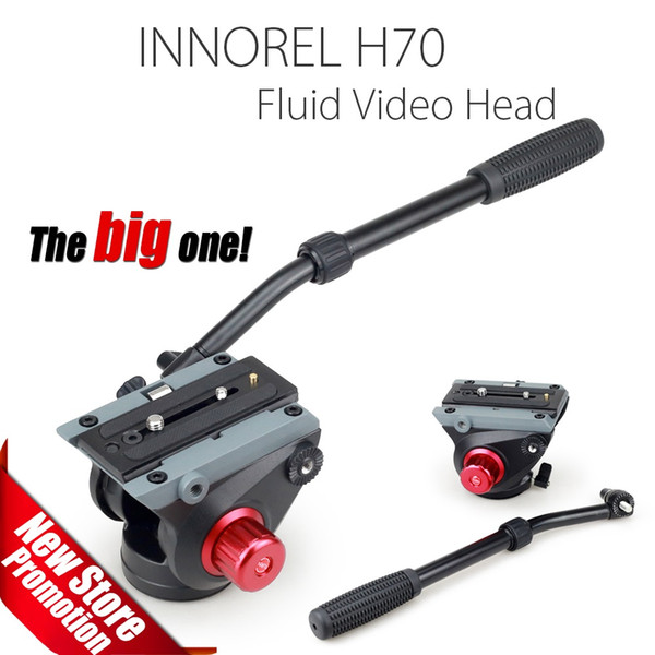 H70A Fluid Video Head for Tripod Monopod Manfrotto 501PL and Bird Watching High load capacity Smooth damping Stable Solid