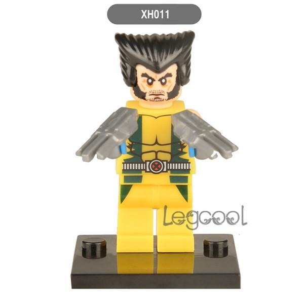 Avengers 3 Super Heroes 10pcs Wolverine XH011 Iron Man Hulk Thor The Flash Green Lantern Building Blocks Sets Mini Bricks Figures Kids Toys