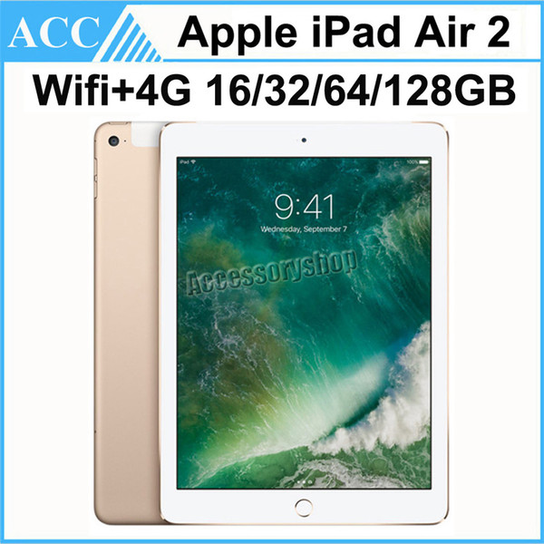 best selling Refurbished Original Apple iPad Air 2 iPad 6 WIFI + 4G Cellular 16GB 32GB 64GB 128GB 9.7 inch Triple Core A8X Chip Tablet PC DHL 1pcs