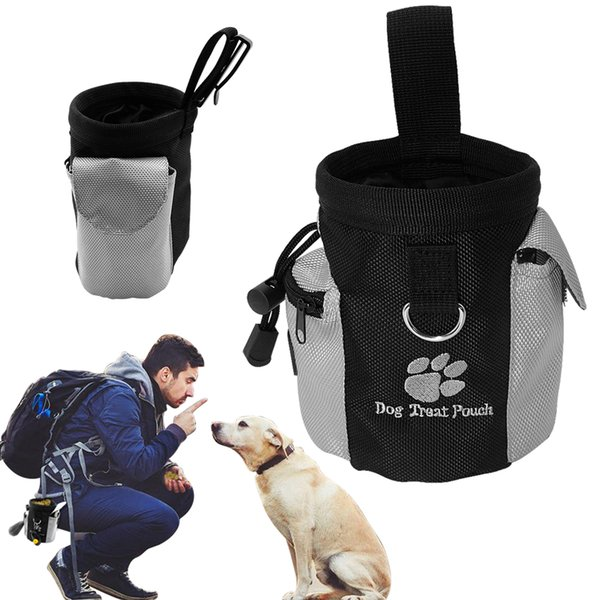 Portable Outdoor Pet Dog Treat Pouch Dog Training Treat Bags Pet Feed Storage Pouch Puppy Snack Reward Waist Bag c597