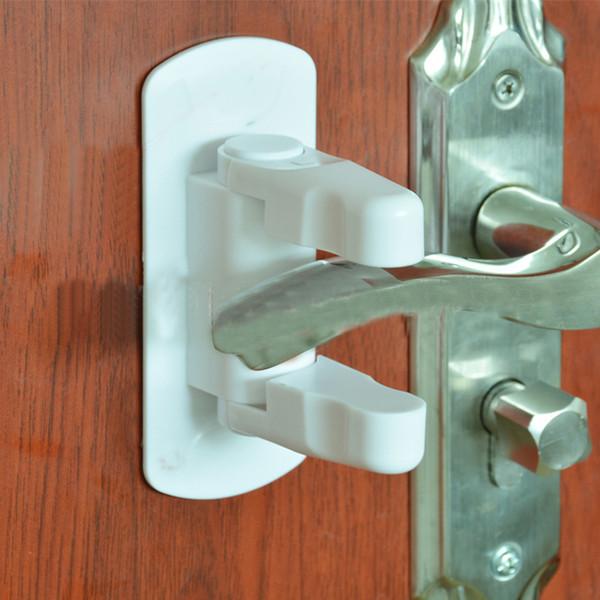 Children Safety Lock Door lever baby Door Handle Locks kids Safety supplies 2 pcs/set Door Locks