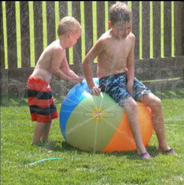 Inflatable Beach Water Ball Fun Spray Outdoor Summer Water Float Toy Lawn Sprinkler Home Kids Children Toys Party Supplies KKA5448