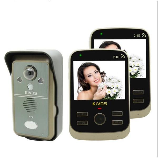 Citofono Wireless Lunga Portata.Acquista Kdb302a 1v2 Videocitofono Citofono Senza Fili Campanello Intelligente 1 Telecamera E 2 Monitor Pir Scattare Foto 2 Vie Audio Sblocco Remoto A