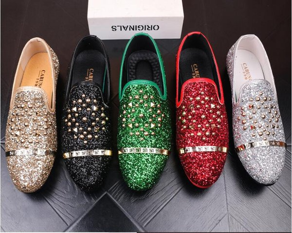 2018 New style European Style Handmade brush-off leather Shoes Men Formal Shoes Slip On Office Business Wedding Suit Dress Loafers G40