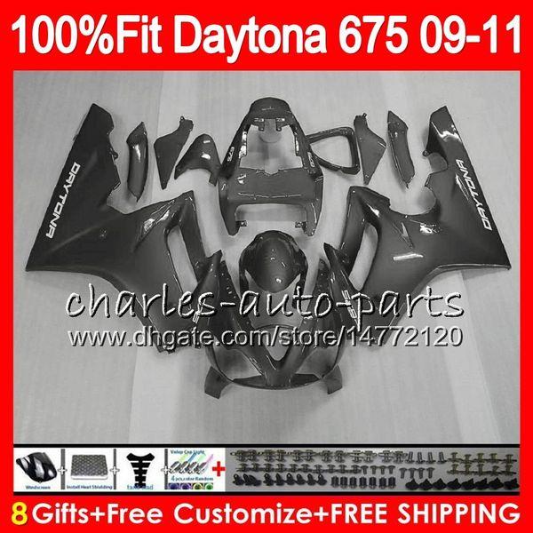 Silver grey Injection For Triumph Bodywork Daytona 675 2009 2010 2011 2012 107HM.91 Daytona 675 09 10 11 12 Daytona-675 Daytona675 Fairing