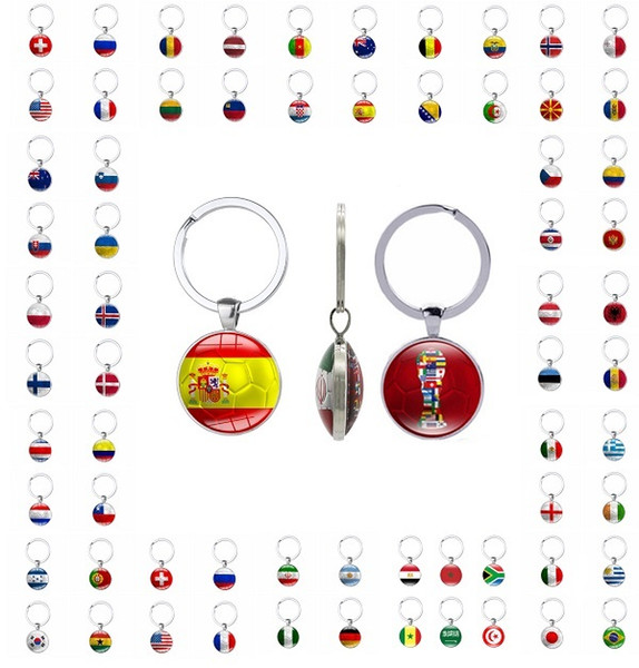 World cup Key chain 2018 world cup football fans gift key rings handmade both sides with graphics freeshipping by DHL