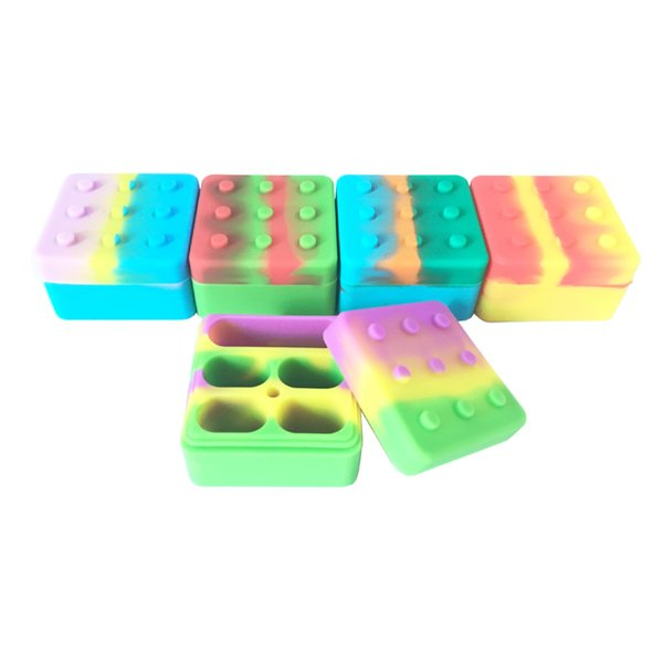 New Silicone Wax Oil Container 26 Ml Sqaure Large Silicone Container Wax Dab For E Cigarette