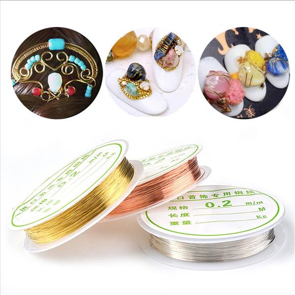 Mybormula 1Roll Copper Wire Nail Art Decorations Handmade Supplies Line Design 3D Tips Gold Silver Rose Gold Manicure Supplies
