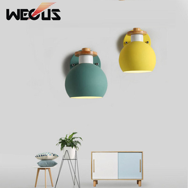 Funky Wall Lights >> 2019 Modern Macaroon Wooden Wall Lamp Indoor Bedside Funky Swing Europe Wall Light Lounge Reading Metal Decorative Sconces From Hogon 69 35