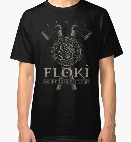 Camiseta Vikings Floki para hombre Nueva camiseta de algodón S-3XL