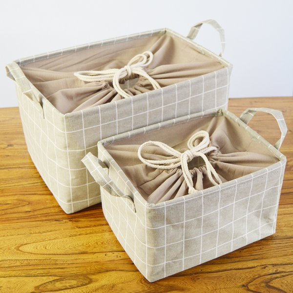 Japanese Style Extra Large Laundry Basket with Cover Faric Storage Box For Toy Sundries Storage Basket Bathroom Laundry Bucket