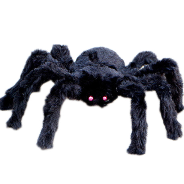 Halloween Decoration Props Plush Spider Large Size Black Color Spider Plush Halloween Props Spider Funny Toy Party Bar KTV
