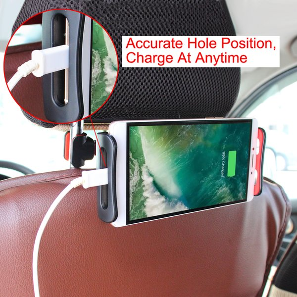 Cell Phone Mounts Holder for Car Auto Vehicle Chair Seat Back Headrest Smartphone Ipad Holder Bracket Rotatable Adjustable Table Seat Stands
