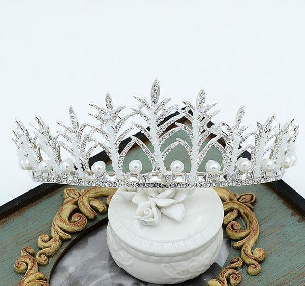 Luxurious Diamond Bridal headwear crown crown wedding dress accessories handmade Baroque hair hoop