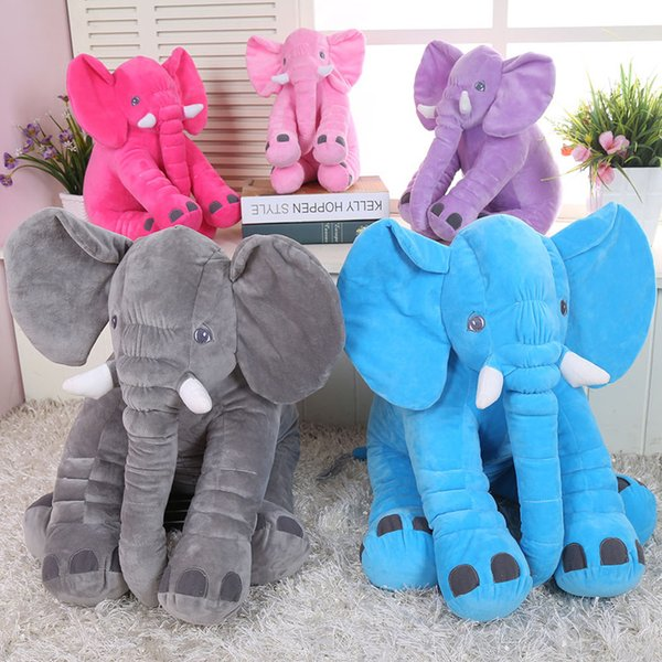 2018 Hot Sales Lovely Elephant Dolls Children Plush Toys Baby Sleeps Appease Pillow Cartoon Anime Kids Stuffed Animals Toy Doll Gifts