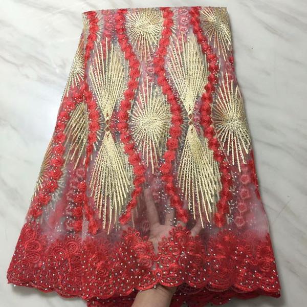 fransız dantel altın kaliteli son fransız dantel taşlar lüks tasarım 2018 afrika tül dantel kumaş parti elbise