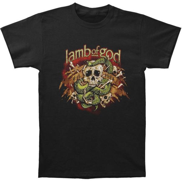 Männer Kleidung 2018 Hip Hop Harajuku Shirts Lamb Of God Männer Gift T-shirt Größe S bis 3xl T-shirt Sommer Stil Lustig