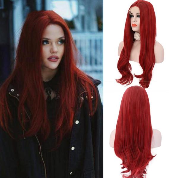 "24/"" Lolita Dunkelbraun Lang Natural Lace Front Wig Perücke Kappe Layered Damen"