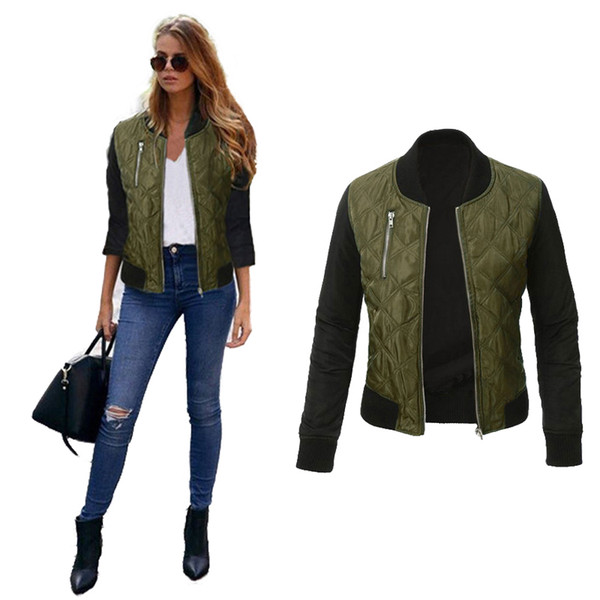 New Jacket Coat 2017 Fashion Autumn Basic Jackets Casaco Feminino Baseball Bomber Jacket Women Spring Cothing Coats For Women C18110601