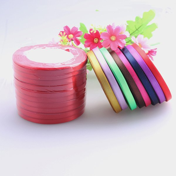 Pure Color Ribbon Polyester Fiber Decorate Lace Satin Ribbons Color Gift Packing Wedding With Multicolor Party Event Supplies 1dd jj