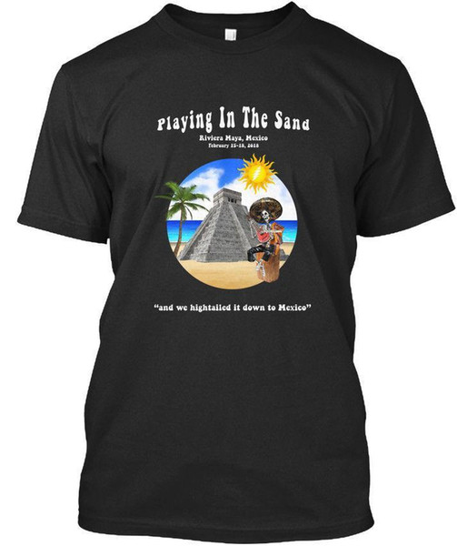 Pits - Playing In The Sand Riviera Maya, Mexico February Premium Tee T-Shirt