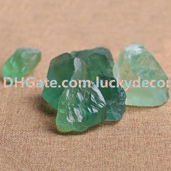 100g Small Irregular Rough Quartz Fluorite Stone Raw Natural Green Fluorite Chunk Stone Nugget Healing Rock Crystal Positive Energy Gemstone