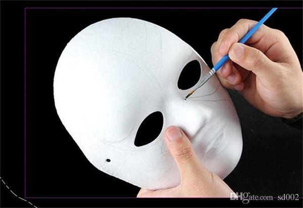 Satin Al Diy Cocuk Sanat Boyama Masquerade El Yapimi Hamuru Beyaz