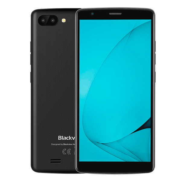 5.5 inch 18:9 HD Blackview A20 3G WCDMA Quad Core MTK6580 1GB 8GB Android GO GPS WiFi Dual Sim Card 5.0MP Camera 3000mAh Battery Smartphone