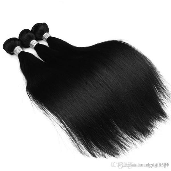 Бразильские прямые волосы ткать пучки 100% человеческих волос пучки 1шт природных не Реми наращивание волос 3 или 4 пучки можно купить