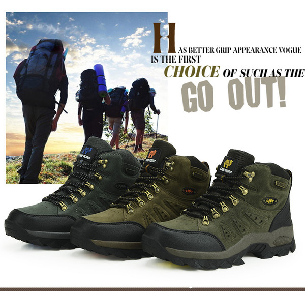 Large Size 40-44 New High-Top Shoes For Men Wear Resistant Outdoor Sports Camping Men Shoes 3 Color