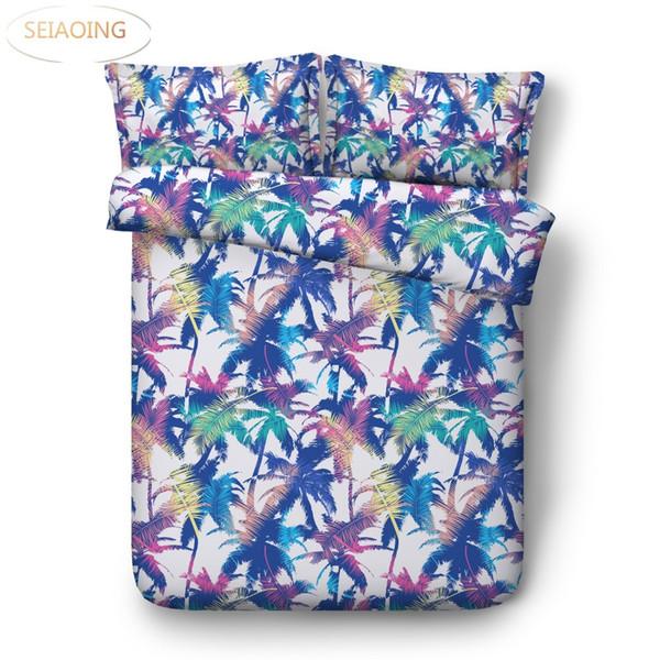 plant floral colorful bedding sets queen size boho duvet cover adult 3d bed linens king size kids bedroom decor home textile