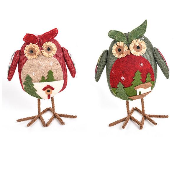 New Creative Christmas Big Eye Owl Plush Xmas Ornament Home Party Decor Christmas Decorations Home Kids Christmas Gift Owl Doll